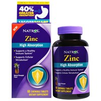 Natrol - Zinc High Absorption (60жев.таб)