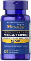 Puritan's Pride Melatonin 5mg (120табл)