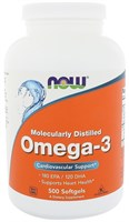 NOW - Omega 3 1000 mg (500гел.капс)