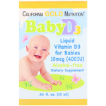 California GOLD Nutrition Baby D3 liquid 10mcg (10мл)