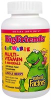Natural Factors BigFriends Chewable multi-vitamin & minerals (60жев.таб)