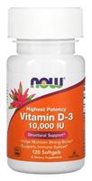 NOW - Vitamin D-3 10000 IU (120гел.капс)